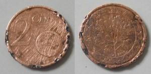 gereinigte münze