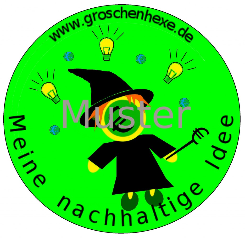 groschenhexe idee logo muster fertig