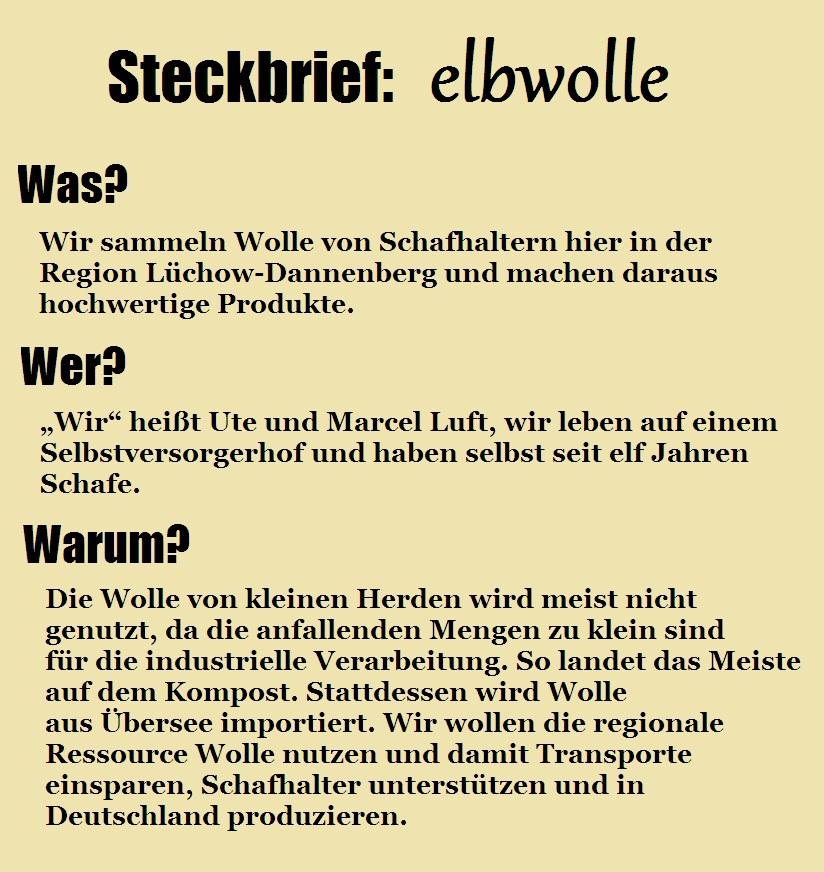 Steckbrief elbwolle